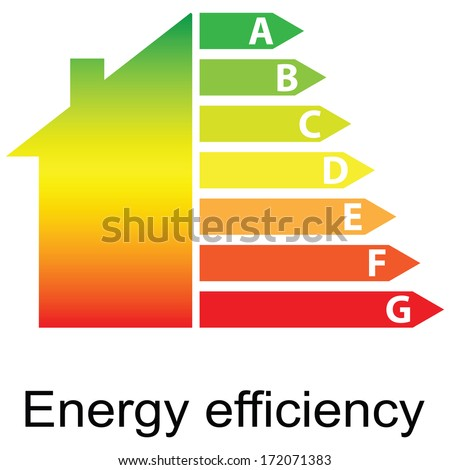 energy efficiency rating and house (vector illustration) - stock vector