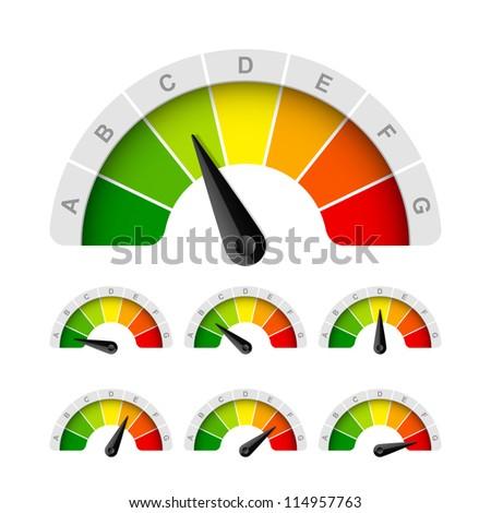 Energy efficiency rating. Vector. - stock vector