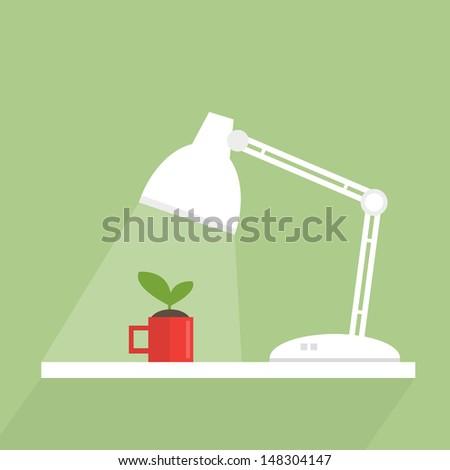 Energy for green - stock vector
