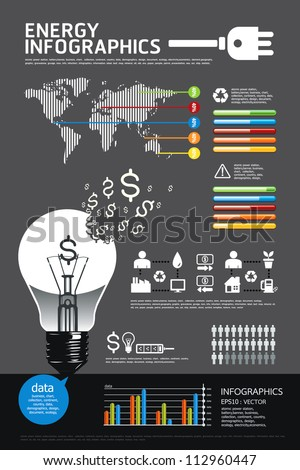 energy infographic vector - stock vector