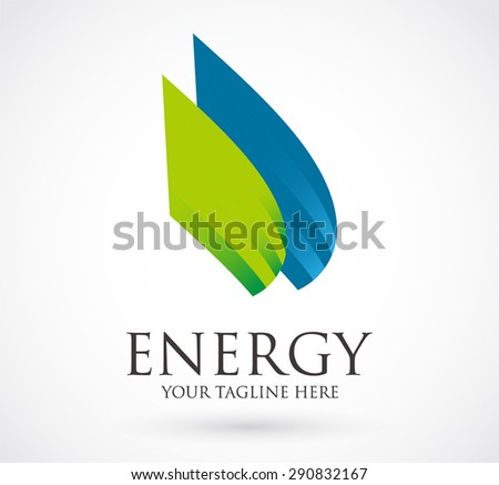 Energy logo company element design vector business icon shape symbol abstract illustration template - stock vector