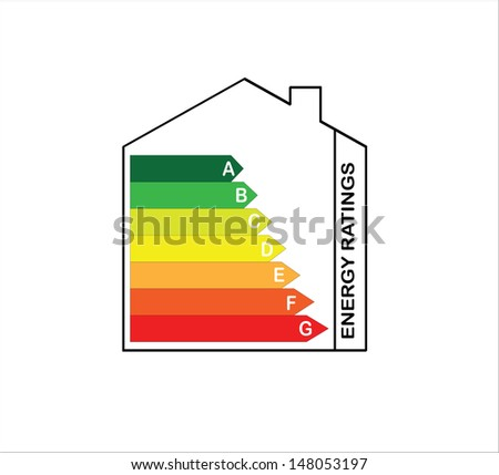 Energy Ratings House - EPS10 - stock vector