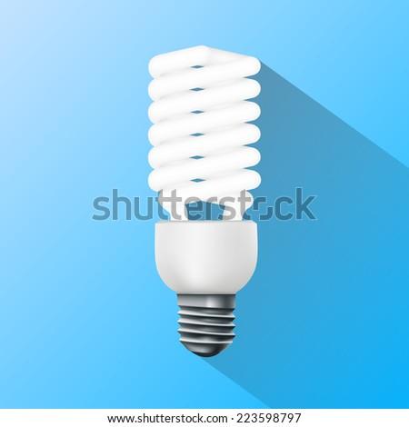 energy saving lamp. Flat graphics. - stock vector