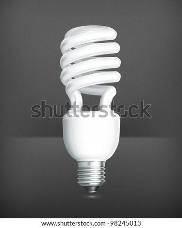 Energy saving lamp, vector - stock vector