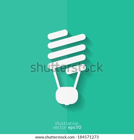 Energy saving light bulb. Flat design. - stock vector