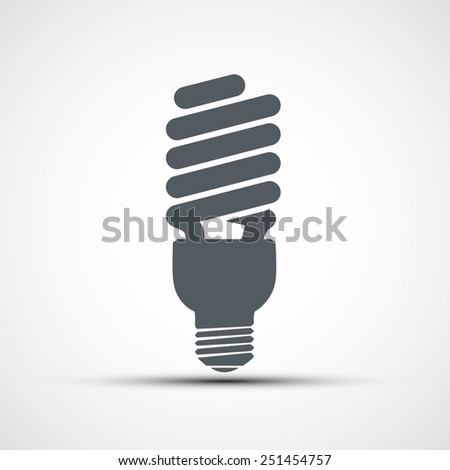 Energy saving light bulb icon vector - stock vector