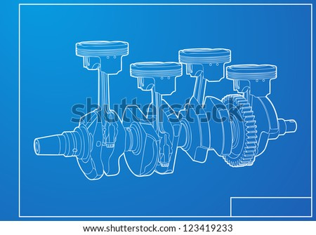 Engine - stock vector