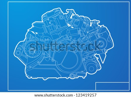 Engine - stock vector