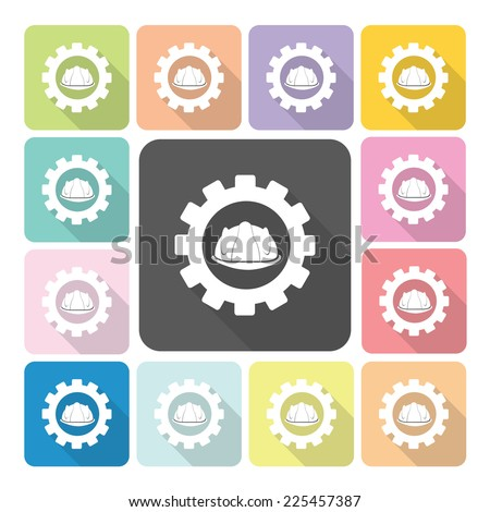 Engineer Icon color set vector illustration. - stock vector
