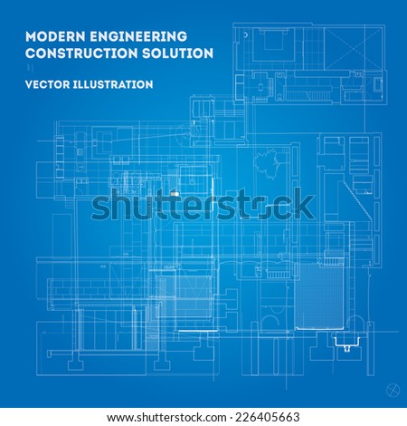 Engineering and architectural design elements background. Editable eps 10 illustration. - stock vector