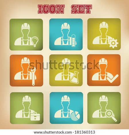 Engineering icons,vector - stock vector