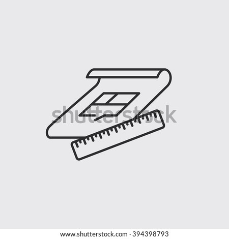 engineering project symbol - stock vector