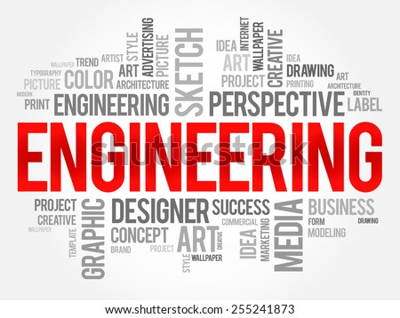 Engineering word cloud concept - stock vector