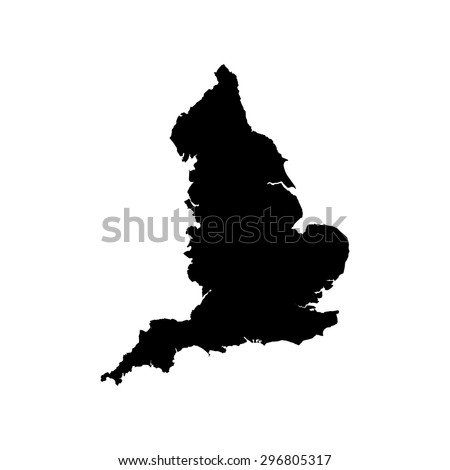 England black vector map flat design - stock vector