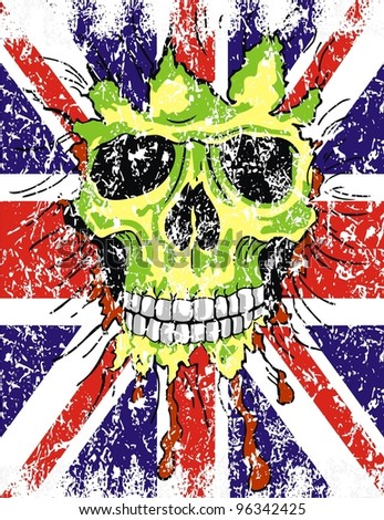 England flag skull - stock vector