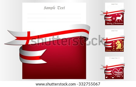 England 's greeting card in big 3 festivals and their template vectors in eps10 - stock vector