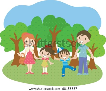Enjoy Picnic and Happy Days - stock vector