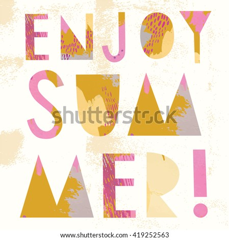 Enjoy Summer. Print Design - stock vector