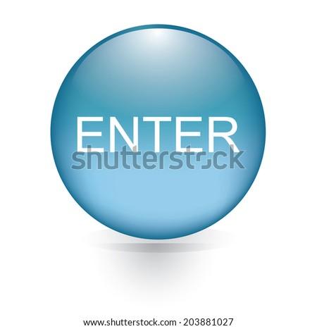 enter button  - stock vector
