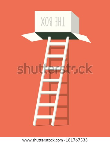 Enter the box. Vector illustration. - stock vector