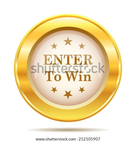 Enter to win icon. Internet button on white background. EPS10 vector.  - stock vector