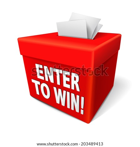 For entering tickets or entry form to win in a lottery stock vector
