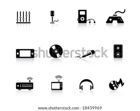 Entertainment icons from series - stock vector