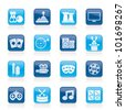 entertainment objects icons - vector icon set - stock vector