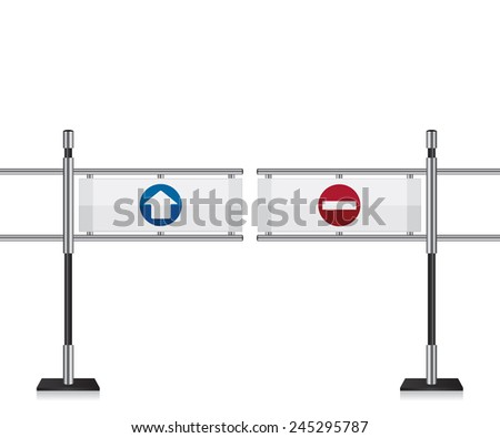 Entrance gate illustration - stock vector