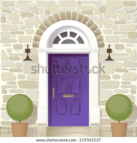 entrance of house - stock vector