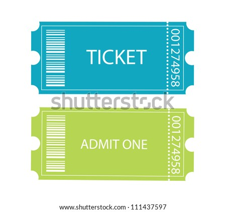 Entrance tickets. - stock vector
