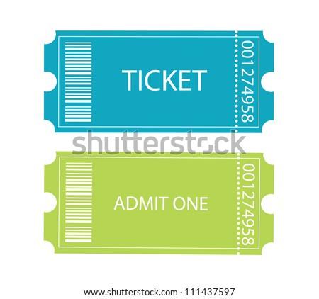 Entrance tickets. - stock vector