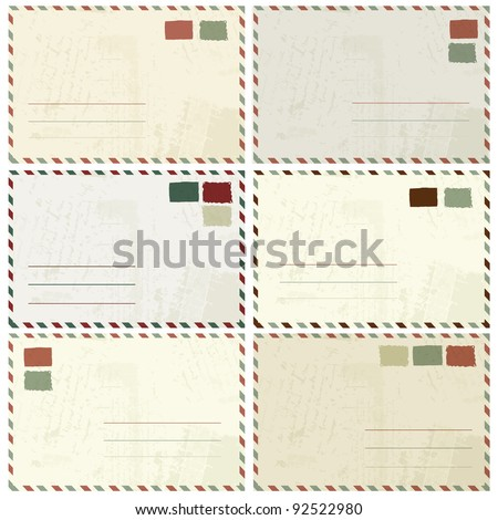Envelope design with place for your text - stock vector