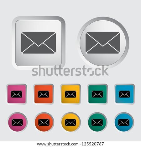 Envelope icon. Vector illustration. - stock vector