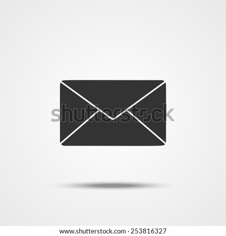 Envelope mail icon for web. Flat design illustration. Vector illustration - stock vector