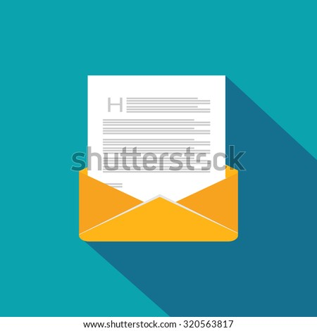 Envelope. Mail. Message. Flat icon. - stock vector