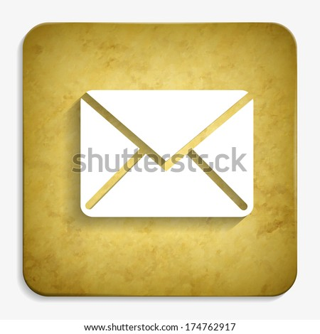 envelope parchment icon - stock vector