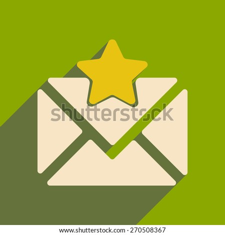 envelope star  - stock vector