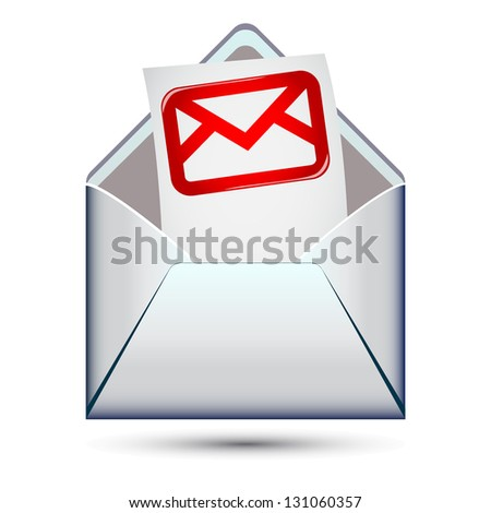 Envelope with envelope icon inside.Isolated on white background - stock vector