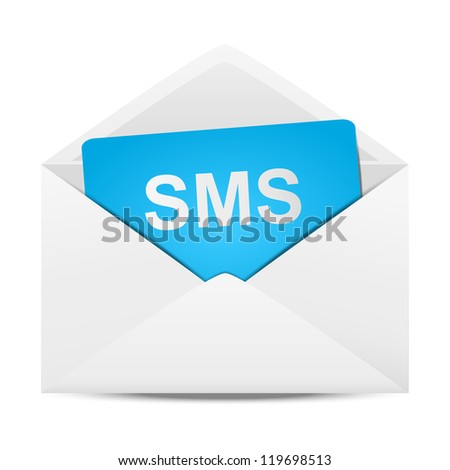 Envelope with message - stock vector