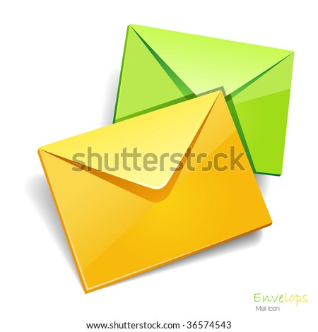 Envelops icon isolated. Vector illustration. - stock vector
