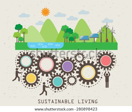 Environment friendly, ecology infographic elements. sustainable living. abstract design, Can be used for background, layout, banner, web design, brochure template. Vector illustration - stock vector