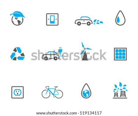 Environment  icon series in duo tone color style - stock vector