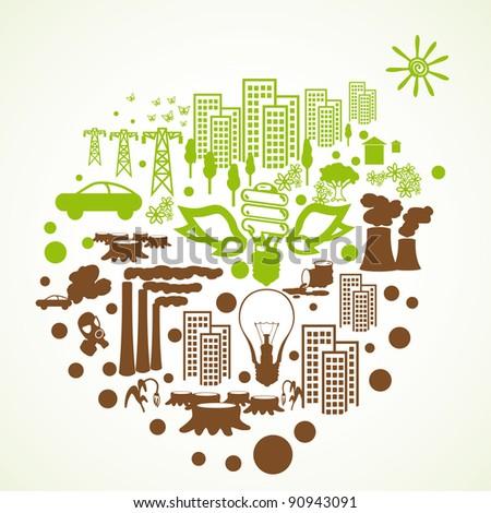 Environment icons - stock vector