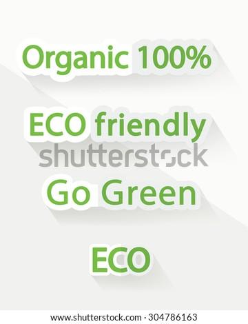 Environment protection green signs - stock vector