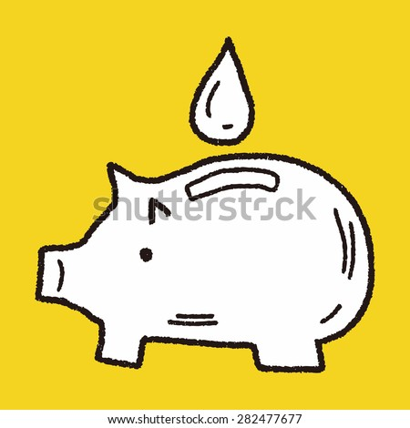 Environmental protection concept; Conserve water, protect the environment; doodle - stock vector