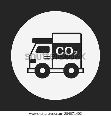 Environmental protection concept green car icon - stock vector