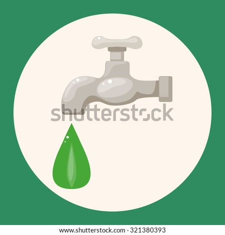 Environmental protection concept theme elements; Conserve water, protect the environment. - stock vector