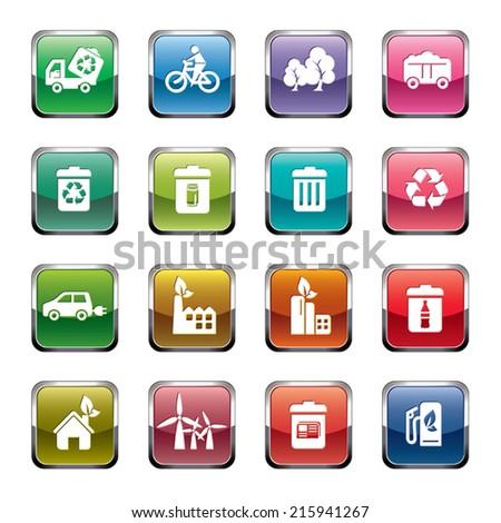 Environmental Protection Icons - stock vector