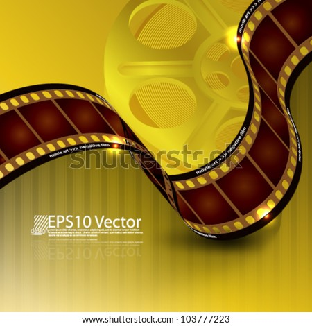 eps10 abstract film reel background - stock vector